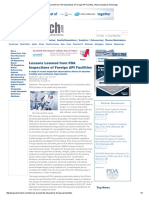 Lessons Learned From FDA Inspections of Foreign API Facilities _ Pharmaceutical Technology