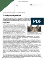 Rapoport. El Enigma Argentino