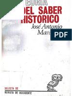 José Antonio Maravall-Teoría del Saber Historico