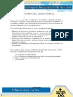 Informe de La Aplicacion Del Sofware