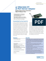 1000 Pt Dual Port Server Adapter Brief