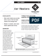 Solar Water Heaters Types of Solar Water Heating Systems