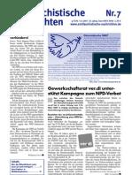 antifaschistische nachrichten 2007 #07