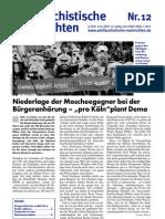 antifaschistische nachrichten 2007 #12