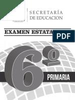 Examen Sexto de Primaria 2014-Rev.2