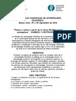 Jornadas Nacionales de Antropología Filosófica - Primera Circular