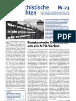 antifaschistische nachrichten 2007 #23