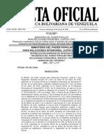 Gaceta Oficial Extraordinaria Nº 6.229