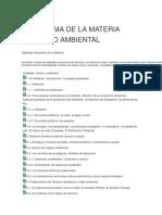 Programa de La Materia Derecho Ambiental