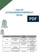 Clase 24 Evaluación Socioeconómica