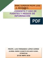 Conocitareamiento y Uso de Fuentes y Medios de Información