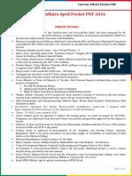 Current Affairs Pocket PDF - April 2016 by AffairsCloud