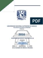 2016 Programa del Módulo de Urogenital