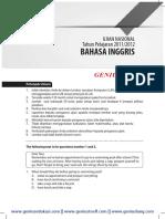Download Soal dan Pembahasan UN Bahasa Inggris  SMP 2011-2012