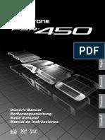 PSR450S manual