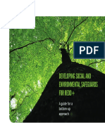 Developing social and environmental safeguard for REDD+