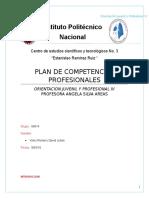 Plan de Competencias Profesionales Orientación Vocacional