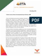 MOVILIDAD Y EDUCACIÓN VIAL, COMPROMISOS DE ANTONIO MOTA
