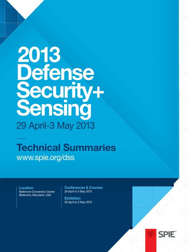 fc1561bce 2013 Defense Security + Sensing Technical Summaries