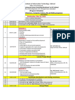 Program Schedule of One Day Training Workshop at CIIT Sahiwal