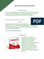 Lista de software para recuperar información (1)