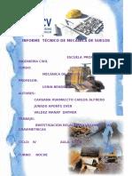 Informe Técnico de Mecánica de Suelos