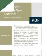 Formalismo Russo e New Criticism