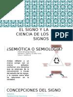 El Signo y La Ciencia de Los Signos