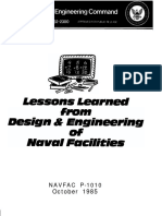 Lesson Learned From DesiLesson Learned from Design & Engineeringgn & Engineering of Naval Facilities