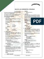 Cronologías de Las Corrientes Literarias