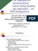 Statistics in QbD Stats WS 09-06