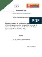 Proyecto Ana III Ciclo