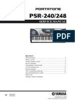 Yamaha Psr-240 Service Manual