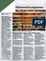 Natural health supplements regulation