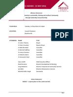 Indigo council meeting agenda May 31, 2016