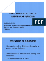 Premature Rupture of Membranes (Prom)