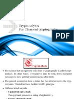 Ch3 Cryptanalysis for Classical Crypto