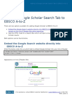 Google Scholar Search Tab