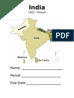 India - 1900-Present - Tc