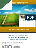 SOC 101 TUTORIALS Learn by Doing/soc101tutorials.com