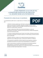 Propuestas Paz Municipales 2015