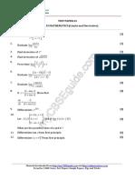 Limits and Derivative Questions - 1