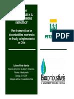 Plan de Desarrollo de Los Biocombustibles Experiencias Em Brasil y Su Implementacion en Chile Luthero Winter (1)