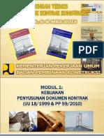 Modul 1_Kebijakan Penyusunan Dok. Kontrak UU Dan PP