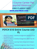 PSYCH 610 Course Career Path Begins Psych610dotcom