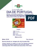 Alteração da data prevista para as Comemorações do dia de Portugal em Guernsey