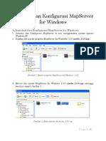 Instalasi Dan Konfigurasi MapServer for Windows