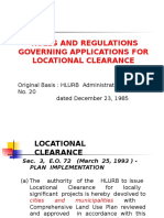 zoning Locational Clearance