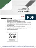 Download Soal dan Pembahasan UN SMP Bahasa Inggris 2012-2013