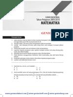 Download Soal dan Pembahasan UN Matematika SMP 2009-2010